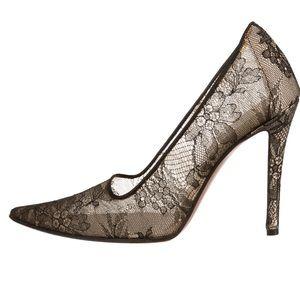 Christian Dior Black Chantilly Lace Pumps